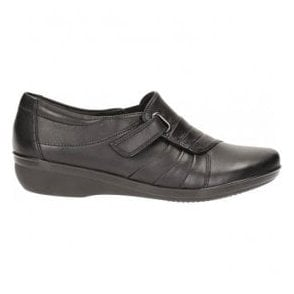 Womens Everlay Luna Black Leather Casual Shoes