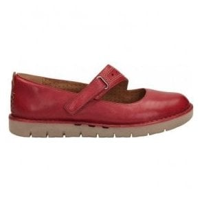 Womens Un Briarcrest Red Leather Mary Jane Shoes