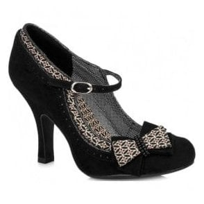 Womens Georgia Black Court Shoes