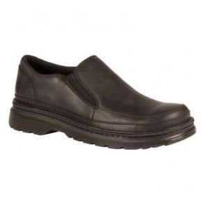 Mens Hickmire Black Leather Slip On Shoes 21800001