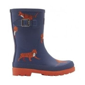 Boys Junior Navy Tiger Welly