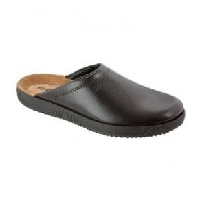 Mens Mocca Leather Mule Slipper 2779 72