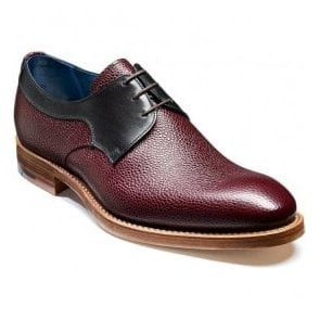 Mens Benedict Burgundy Grain/Black Calf Lace Up Shoes
