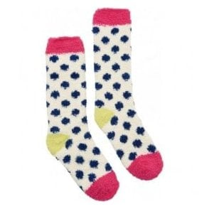 Girls Spot Cosy Fluffy Socks