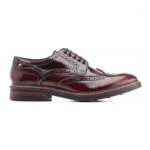 Mens Woburn Bordo Hi-Shine Formal Brogue Shoes
