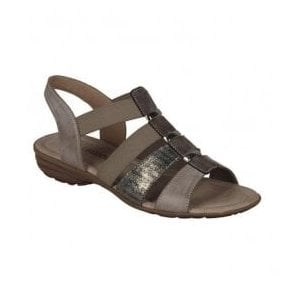 Womens Serbia Taupe Sling Back Sandals R3644-25