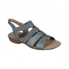 Womens Serbia Blue Sling Back Sandals R3644-10