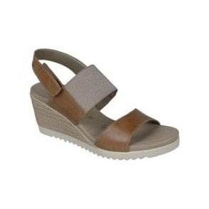 Womens Paddoc Brown Combination Sling Back Sandals D3458-20