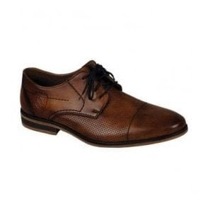Clarino Brown Leather Lace Up Formal Shoes 11615-24