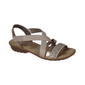 Womens Dehlistret Beige Slip On Sandals V3463-60
