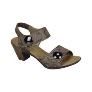 Reptile Grey Strap Over Sandals 67369-64