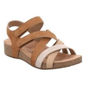 Womens Tonga 37 Natural-Combi Velcro Sandals 78537 724 211