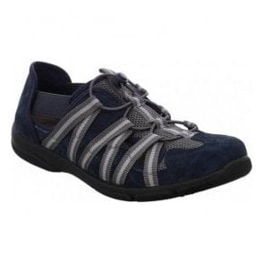 Womens Traveler 01 Jeans Navy/Grey Elasticated Trainers 17201 32 506