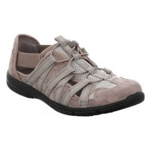Womens Traveler 01 Taupe Elasticated Trainers 17201 32 306