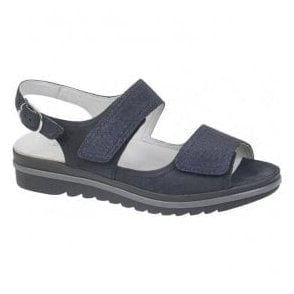 Womens Hakura Denver Navy Velcro Sandals 351002 648 194