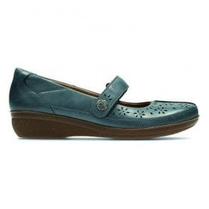 Womens Everlay Bai Blue Leather Mary Jane Bar Shoes