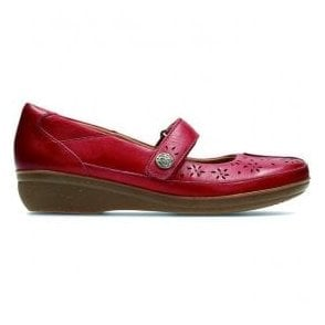 Womens Everlay Bai Red Leather Mary Jane Bar Shoes