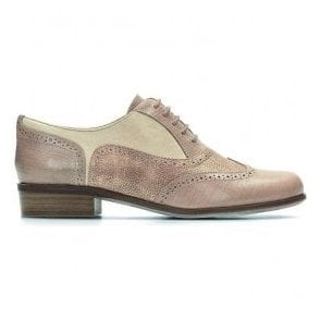 Womens Hamble Oak Nude Combi Leather Casual Shoes