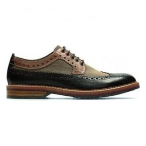 Mens Pitney Limit Brown Combi Leather Brogue Shoes