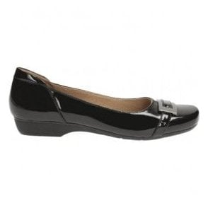 Womens Blanche West Black Patent Casual Shoes