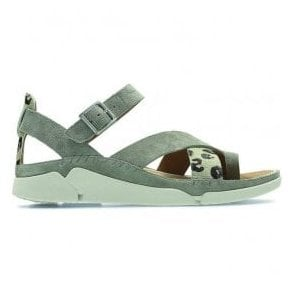 Womens Tri Ariana Sage Combi Leather Toe Loop Sandals