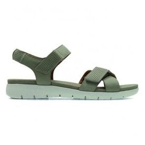 Womens Un Saffron Sage Nubuck Leather Sandals