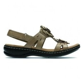 Womens Leisa Claytin Sand Leather T-Bar Sandals