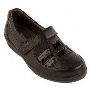 Womens Foxton Black Patent Extra Wide Shoes