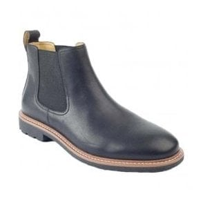 Mens Lord Black Twin Gusset Boots