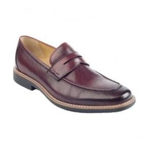 Mens Arrow Burgundy Slip On Shoes