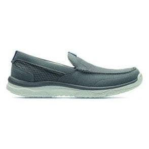 Mens Marus Step Grey Casual Slip On Driving Shoes