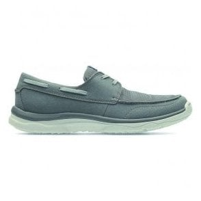 Mens Marus Edge Grey Casual Boat Shoes