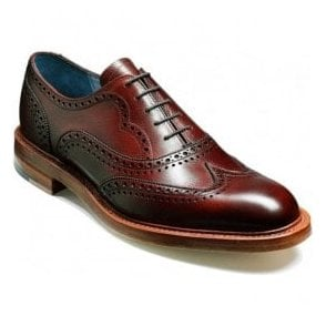 Mens Indiana Cherry Grain Lace Up Brogue Shoes