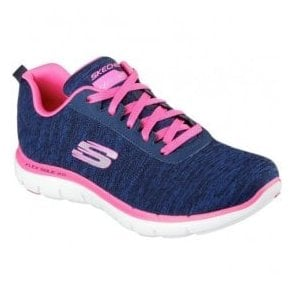 Womens Flex Appeal 2.0 Navy/Pink Trainers 12753