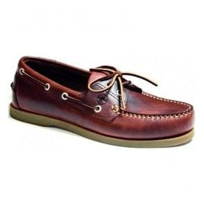 Mens Creek Saddle Leather Deck Shoes