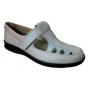 Womens Pansy Light Blue/Grey T-Bar Cutout Shoes 78075G EE