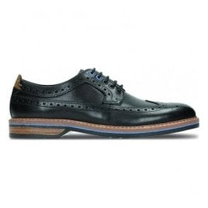 Mens Pitney Limit Black Leather Brogue Shoes