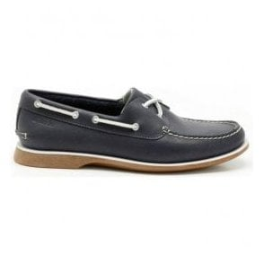 Mens Quay Port Navy Lace Up Deck Shoes