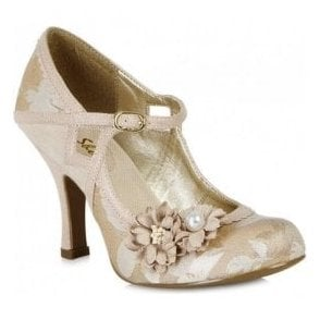 Womens Yasmin Rose Gold Mary Jane Court Shoes 09088