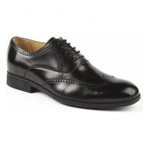 Mens Bugatti Black 5 Eyelet Tie Shoes