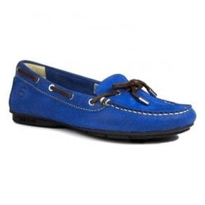 Womens Ballena Royal Blue Leather Deck Shoes