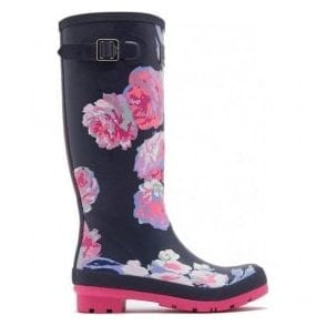 Womens Wellyprint Tall Printed French Navy Beau Bloom Boots
