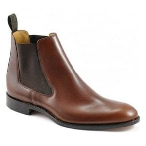 Mens Petworth Brown Elastic Sided Dealer Boots