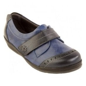Womens Fenwick Navy/Royal Strap Over Shoes