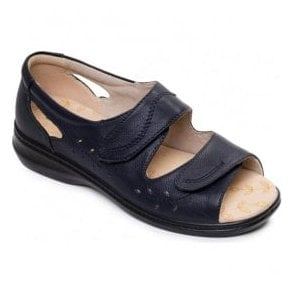 Womens Wave 2 Navy Velcro Comfort Sandals