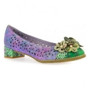 Womens Brittany 03 Violet Punch Detail Heeled Pump Shoes