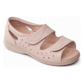 Womens Wave 2 Oyster Velcro Comfort Sandals
