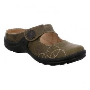 Womens Maddy 12 Olive Slip On Mules