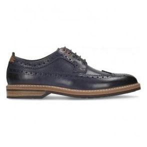 Mens Pitney Limit Blue Leather Brogue Shoes