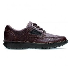 Mens Unnature Time Brown Tumbled Leather Lace Up Shoes